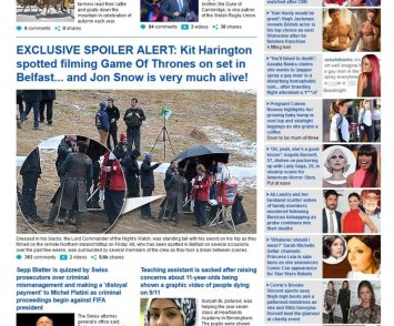 daily mail -jonsnow