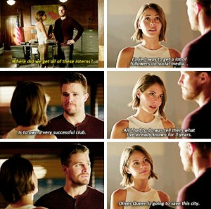 arrow oliver e thea