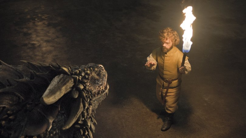tyrion lannister and dragon